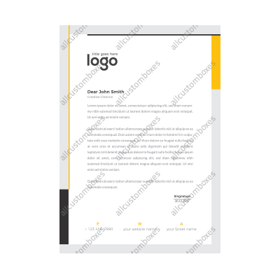 Custom Letterhead UK-3